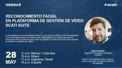 [Webinar] Reconocimiento facial en plataforma de gestión de vídeo SCATI SUITE